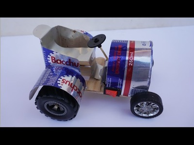 How To Make a Power Car From Bacchus Cans -  Electric car DIY For Kids