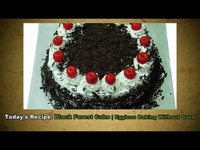 How to make blackforest eggless cake without oven in easy recipe