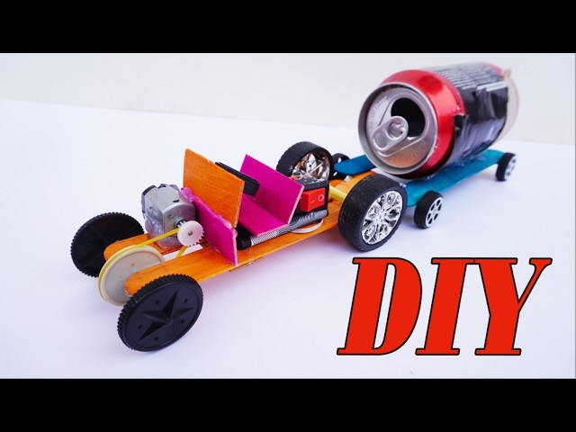 How to make Powerful Tractor For Toy DIY Cool Project - Electric Car Easy Homemade