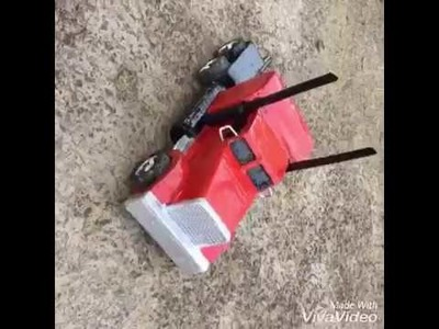 How To Make RC 'OPTIMUS PRIME' Truck At Home DIY