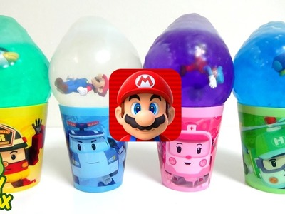 Learn Colors StressBall Orbeez DIY Surprise Eggs Play Doh Mario Run Poli PAW PATROL