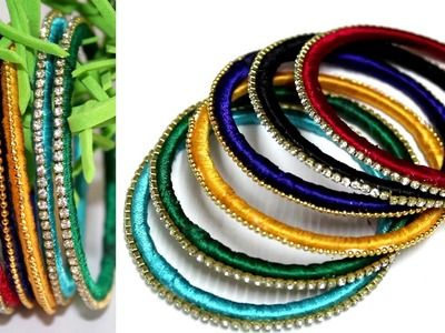 Making Silk Thread Bangles with Old Glass Bangles | DIY