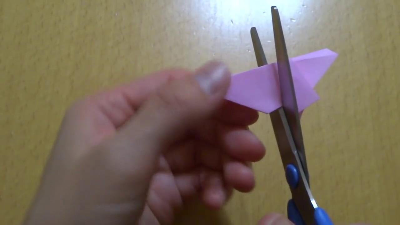 Origami Sakura Flower Cherry Blossom. 折り紙 桜(サクラ) 切り方 作り方