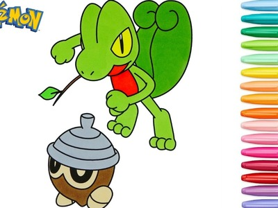 Pokemon Coloring Book Pages Treecko キモリ Seedot タネボー  Rainbow Splash rscb Anime Speed Coloring Copic