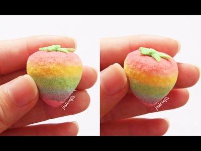 Rainbow strawberry squishy ???? | homemade squishy tutorial