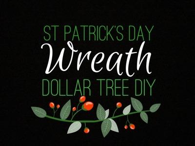 St Patrick's Day Wreath. Dollar Tree DIY