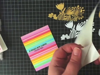 #TBT - Magical Rainbow Stripe Cards with Katie