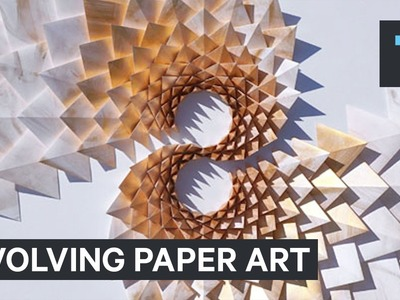 This evolving paper art has no end.