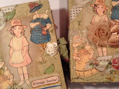 Vintage Paper Doll Journals  - one for a Swap -  one for Etsy