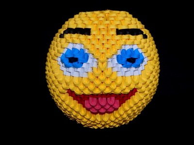 3D origami Smiley face 1 tutorial  part2