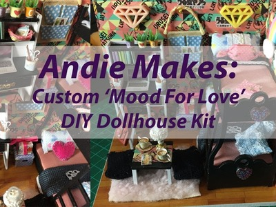 Andie Makes: Custom DIY Dollhouse Kit - Mood For Love with Working Lights!