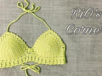 [Crochet] Hướng dẫn móc áo Bikini (kiểu 2)