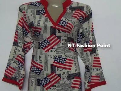 Designs kameez-kurti measurement, cutting & stitching Step by step (DIY-1) ▶▶ NT Fashion Point