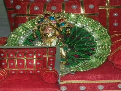 DIY DIWAN SET FOR BAL GOPAL. GADDI PILLOW SET FOR KANAH JI. AASAN FOR LADDU GOPAL - BY SRILATHA
