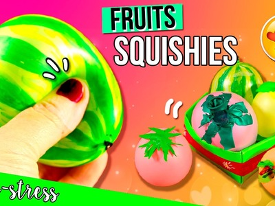 DIY Fruits & Vegetables SQUISHIES ???? ????  Peach, Watermelon, Lemon, Tomato & Eggplant SQUISHY???? ???? ????