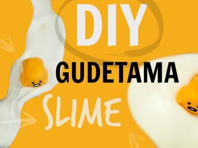 DIY GUDETAMA SLIME | NO BORAX, CONTACT LENS CLEANER ETC.