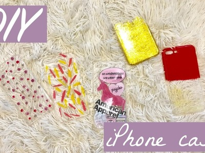 DIY IPHONE 7 PLUS CASES! (FAST & EASY!) | Ann V