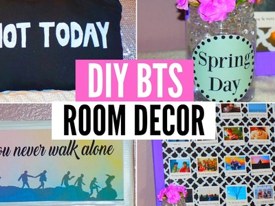 ►DIY KPOP BTS ROOM DECOR! You never walk alone.Spring Day. Not Today Inspired