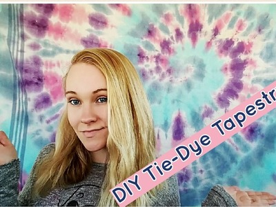 DIY Tie-Dye Tapestry! Super easy and beautiful