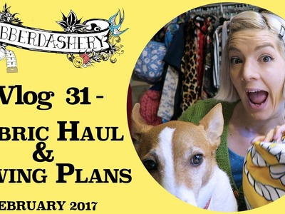 Fabric Haul & Sewing Plans February 2017 | Vlog 31