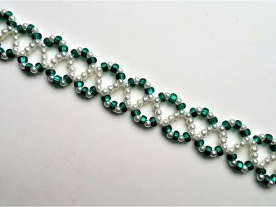 Go Green Bracelet 3. Beading jewelry pattern for beginners