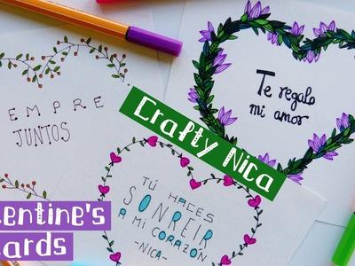HANDMADE LOVE CARDS (2). Valentine's gift for boyfriend or girlfriend