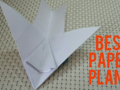 How to make a fast flying paper plane ( origami hindi )