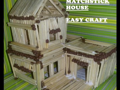 HOW TO MAKE MATCHSTICK HOUSE _ EASY PROCESS_ ALL DIY_ EVEN KIDS CAN DO IT