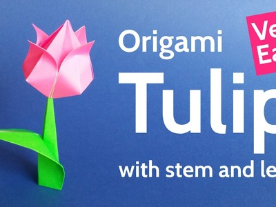 Origami Tulip Flower ???? Easy Tutorial for Valentine's Day, Mother's Day and Spring