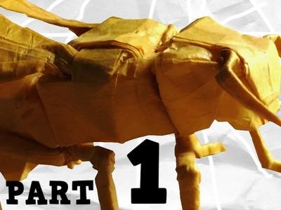 Origami Yellow Jacket.Wasp Tutorial (Robert J Lang) Part 1 - Precreasing