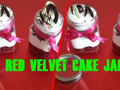 Red Velvet Cake Jar | DIY Gift Ideas  | Red Velvet Cake
