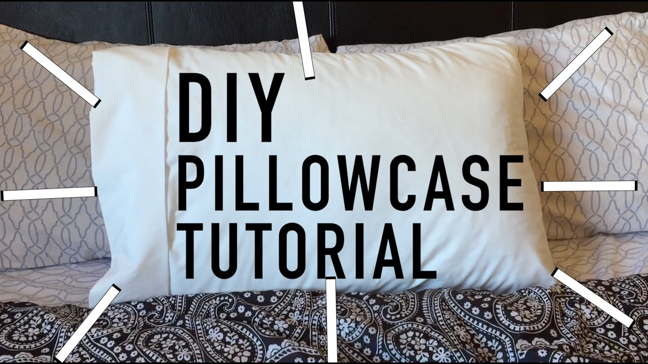 Sewing for Beginners    Diy Pillowcase Tutorial    How to make a Pillowcase from Scratch