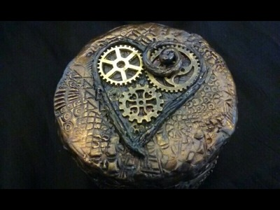 Steampunk LOVE Lights Candle Jar- D.I.Y.-The Gypsy & The Witch