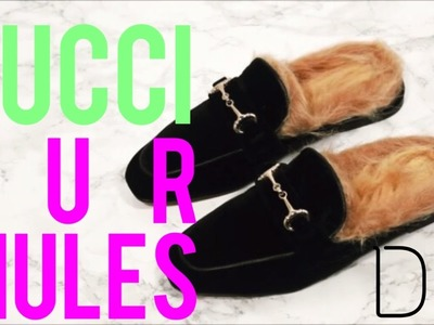 10 MINUTE GUCCI FUR MULES PRINCETOWN INSPIRED DIY