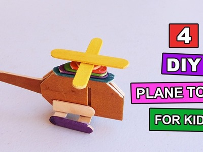 4 DIY Plane Toys you can make at home   Toys for kids