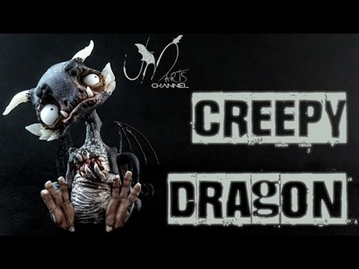 Creepy & Spooky Dragon Clay Tutorial Living Doll Super Sculpey 3D Pen and Fimo