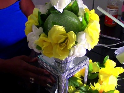 DIY: Bling Mirrored Floral Box