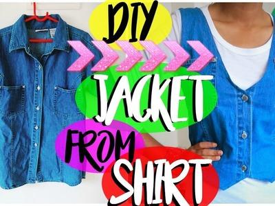 DIY: Convert Shirt. T-shirt into Jacket | DIY Denim Jacket | Wardrobe Makeover Ep 1 | MashDIYzone