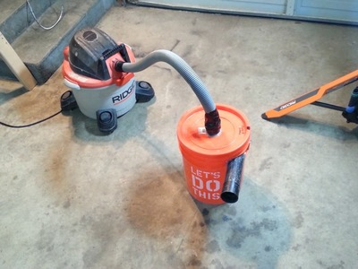 DIY Dust Collector.Separator home made in less than 20 minutes with a bucket and spare vacuum parts