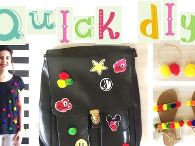 DIY *Latest* Fashion Trends - Pom-Pom Top, Shoes, Earrings & Backpack | Heli