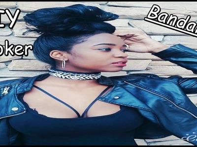 DIY    Rihanna Inspired BANDANA Choker