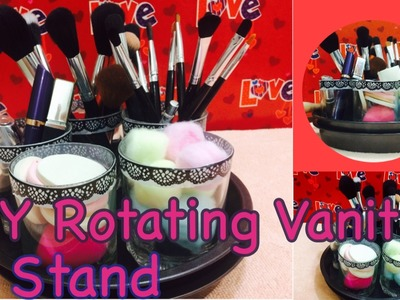 DIY Rotating vanity stand | How to make Easy Rotating vanity stand | DIY vanity storage & organizer