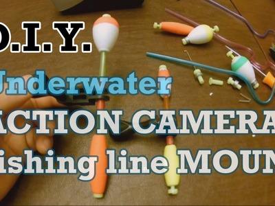 DIY Underwater fishing line Action Camera Mount