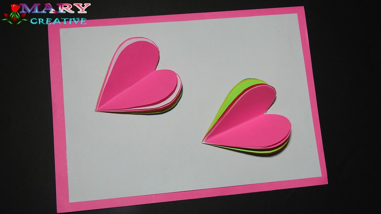 How To Make A Greeting Card Valentines Day Card Rainbow Heart