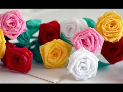 How to make SMALL PAPER ROSES with paper strips - 2 Min - Paper Craft