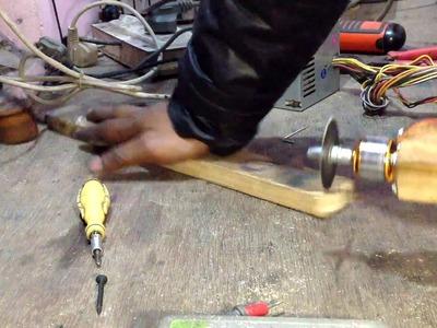 How to make wood cutter saw using brushless motor (DIY)