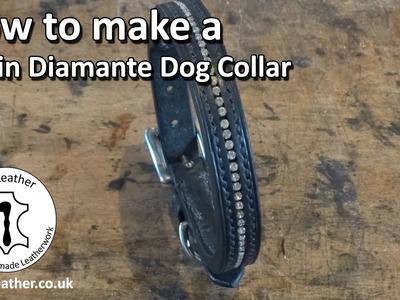 Make Your Own Diamante Dog Collar - Leather Dog Collar Tutorial