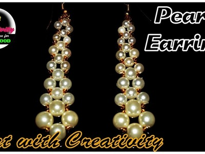 PEARL Earring | Beading tutorial | Simple and easy | Art with Creativity 161