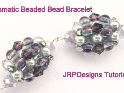 Prismatic RAW Beaded Bead Bracelet--Left Handed Beginner Tutorial