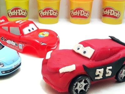 DIY Play Doh Cars 3 Lightning McQueen Peppa Pig Learn Colors Ice Cream Disney Car 3 Movie Nursery